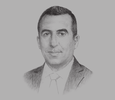Sketch of Yazid Benmouhoub, General Manager, Algiers Stock Market