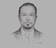 Sketch of Rachid Ghezlaoui, CEO, Transrafa
