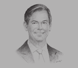 Sketch of Simon Stamper, Director of Operations, Africa, IHG