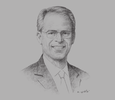 Sketch of Dow R Wilson, CEO, Varian Medical Systems