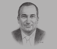 Sketch of  Samir Hadj Ali, Chartered Accountant and Managing Partner, Mazars Algeria