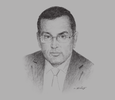 Sketch of Noureddine Boutarfa, Minister of Energy