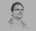 Sketch of Zied Ladhari, Tunisian Minister of Industry