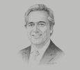 Sketch of Mark Garnier, Parliamentary Undersecretary, UK Department for International Trade