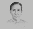 Sketch of U Kyaw Win, Minister of Planning and Finance