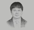 Sketch of Quach Hung Hiep, Senior Executive Vice-President, Bank for Investment and Development of Vietnam (BIDV)