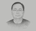 Sketch of U Win Khaing, Minister of Construction