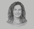 Sketch of Michelle Simmons, General Manager of South-east Asia New Markets, Microsoft Asia Pacific