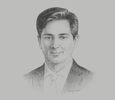 Sketch of Omar Shahzad, Group CEO, Meinhardt Group