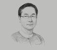 Sketch of U Ko Ko Gyi, Group Managing Director, Capital Diamond Star Group