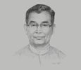 Sketch of U Ohn Winn, Minister of Natural Resources and Environmental Conservation