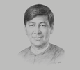 Sketch of U Than Tun, CEO, Myanmar National Airlines