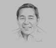 Sketch of U Nay Aung, Founder, Oway Group