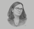Sketch of Cecilia Malmström, European Commissioner for Trade