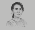 Sketch of Daw Aung San Suu Kyi, State Counsellor