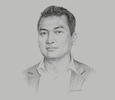Sketch of Ken Tun, CEO, Parami Energy Group