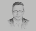 Sketch of Chris Breeze, Country Chairman, Shell Oman