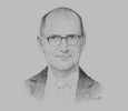 Sketch of Paul Gregorowitsch, CEO, Oman Air