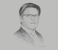 Sketch of James Wilson, CEO, Oman Tourism Development Company (Omran)