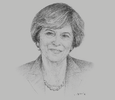 Sketch of Theresa May, Prime Minister of the UK