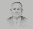 Sketch of Ebrahim Mohammed Janahi, Chief Executive, Tamkeen