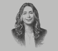 Sketch of Najla M Al Shirawi, CEO, Securities & Investment Company