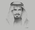 Sketch of Sheikh Khaled bin Humood Al Khalifa, CEO, Bahrain Tourism and Exhibitions Authority (BTEA)