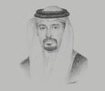 Sketch of Sheikh Ahmed bin Hamad Al Khalifa, President, Customs Affairs