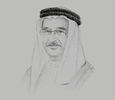 Sketch of Sheikh Mohammed bin Abdullah Al Khalifa, Chairman of the Supreme Council for Health