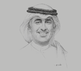 Sketch of Zayed R Al Zayani, Minister of Industry, Commerce and Tourism