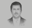 Sketch of Ahmed Alsulaiman, Managing Partner, KSI - Bahrain Consultants & Public Accountants