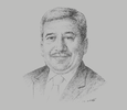 Sketch of Pankaj Patel, President, Federation of Indian Chambers of Commerce & Industry