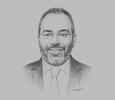Sketch of Carlos Lopes, Professor, University of Cape Town; and Visiting Fellow, Oxford Martin School