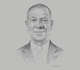 Sketch of Abdoulaye Coulibaly, Chairman, Aeria & Air Côte d'Ivoire