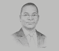 Sketch of Bruno Nabagné Koné, Minister of Communications, Digital Economy and the Post