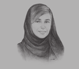 Sketch of Sheikha Bodour bint Sultan Al Qasimi, Chairperson, Sharjah Investment and Development Authority (Shurooq)