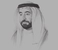 Sketch of Sheikh Sultan bin Mohammed Al Qasimi, Ruler of Sharjah and Member of the UAE's Supreme Council