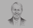Sketch of Björn Kjerfve, Chancellor, American University of Sharjah