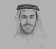 Sketch of Marwan bin Jassim Al Sarkal, CEO, Sharjah Investment and Development Authority (Shurooq)