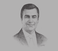 Sketch of Adel Ali, CEO, Air Arabia