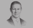 Sketch of Badr Jafar, CEO, Crescent Enterprises; and Executive Chairman, Gulftainer