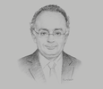 Sketch of Sherif Samy, Chairman, Egyptian Financial Supervisory Authority (EFSA)
