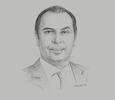 Sketch of Mohamad Talaat, Managing Partner, Helmy, Hamza & Partners