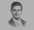 Sketch of President Enrique Peña Nieto