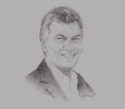 Sketch of Mauricio Macri, President of Argentina