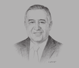 Sketch of Valentín Díez Morodo, President, Mexican Business Council for Foreign Trade, Investment & Technology