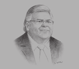 Sketch of Agustín Carstens, Governor, Banco de México
