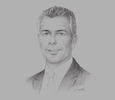 Sketch of Alexander W Wehr, President and CEO, BMW Mexico, Latin America and the Caribbean