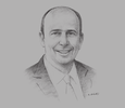 Sketch of Jerónimo Gerard Rivero, CEO and Founder, Mexican Retail Properties