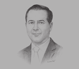 Sketch of Julio Sánchez y Tépoz, Federal Commissioner, Federal Commission for the Protection against Sanitary Risk (COFEPRIS)